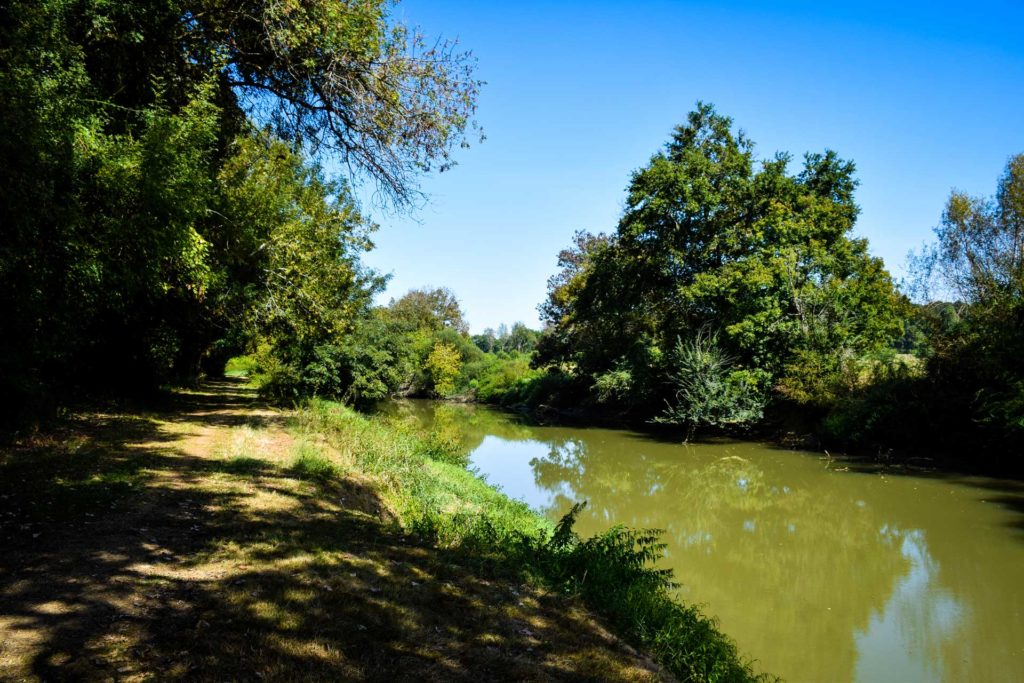 Rivière le Luy à Oeyreluy dans les Landes