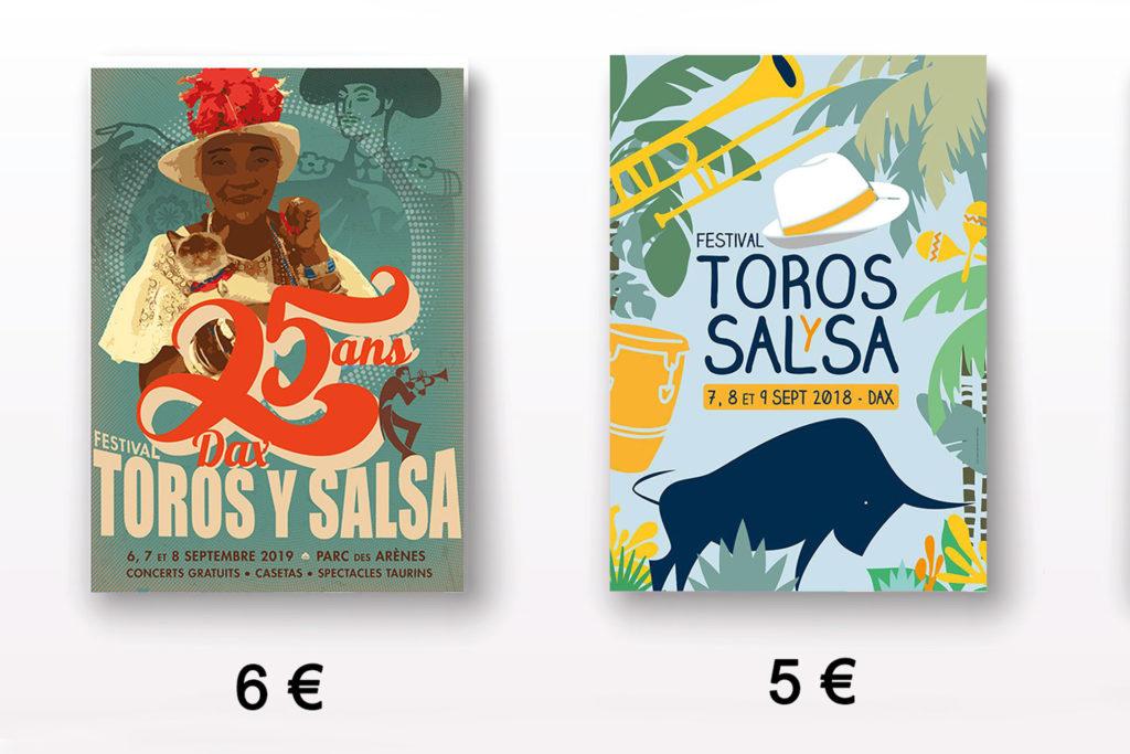 affiches toros y salsa dax