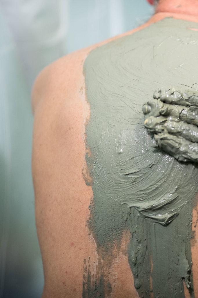 application de boue thermale dax
